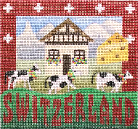 Switzerland Needlepoint - Canvas Only