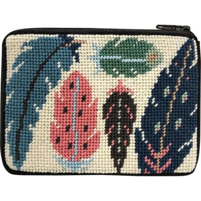 Frank Lloyd Wright Imperial Hotel Needlepoint Coin Purse Kit Stitch /& Zip