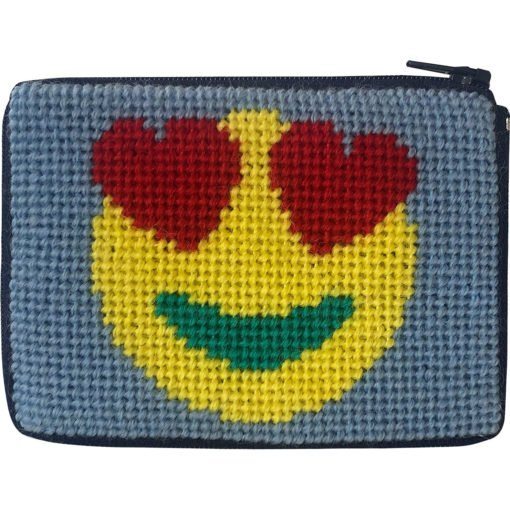 Beginner Needlepoint Kit Coin Purse Emoji