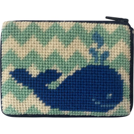 Beginner Needlepoint Kit Coin Purse Whale