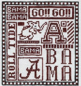 College Needlepoint - U of Alabama  - Canvas Only