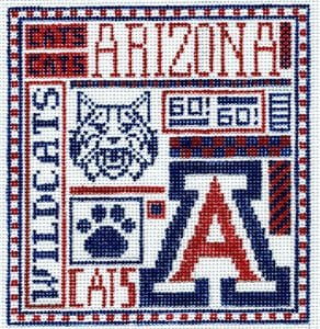 College Needlepoint - U of Arizona - Canvas Only