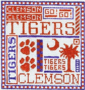 College Needlepoint - Clemson Tigers - Canvas Only