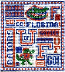 College Needlepoint - U of Florida - Canvas Only