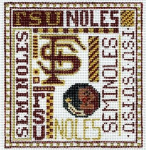 College Needlepoint -  Florida State - Canvas Only