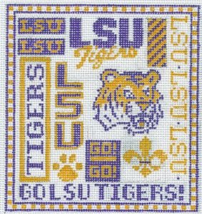 College Needlepoint -  LSU Tigers - Canvas Only