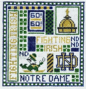 College Needlepoint - Notre Dame - Canvas Only