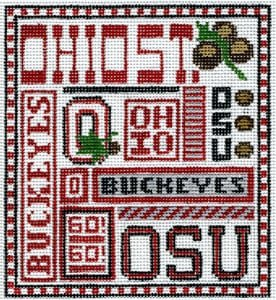 College Needlepoint - Ohio State - Canvas Only