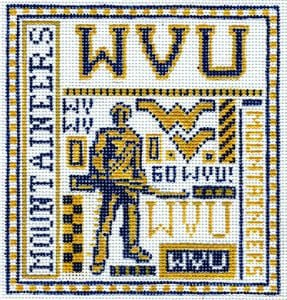 College Needlepoint - U of West Virginia - Canvas Only