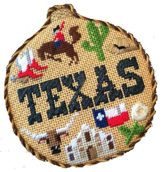 Texas Needlepoint Ornament - Canvas Only