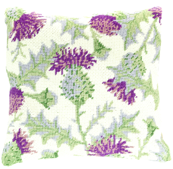 Needlepoint Pillow Kit Thistle