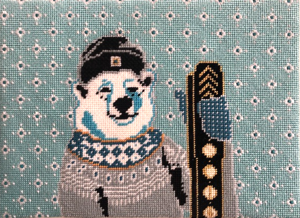 Maggie, the Polar Bear With Skis