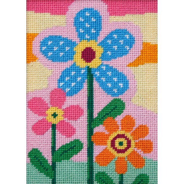 Easy Needlepoint Kit Three Flowers