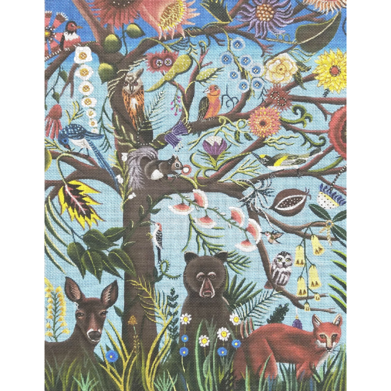 Tree of Life needlepoint design by Catherine Nolin.