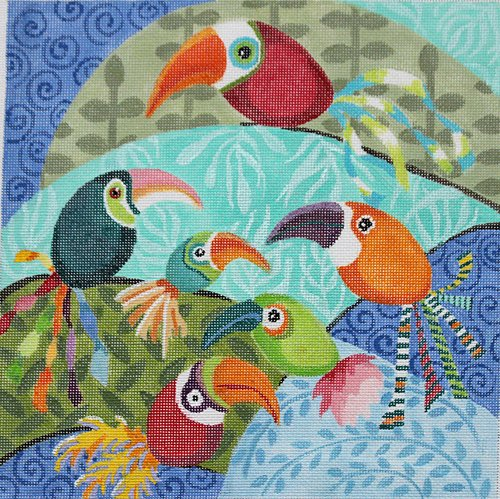 Tropical Birds - Canvas Only