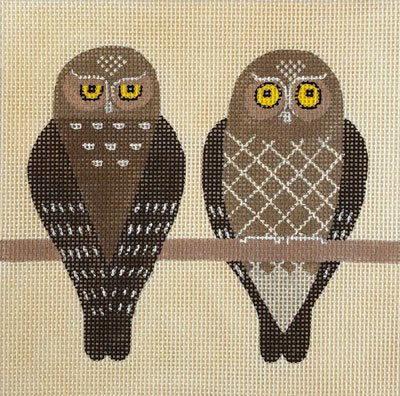 Two Owls - Canvas Only