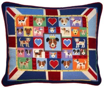 Union Jack Russell Needlepoint Kit