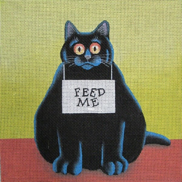 Vicky Mount Needlepoint<BR>Feed me - Canvas Only