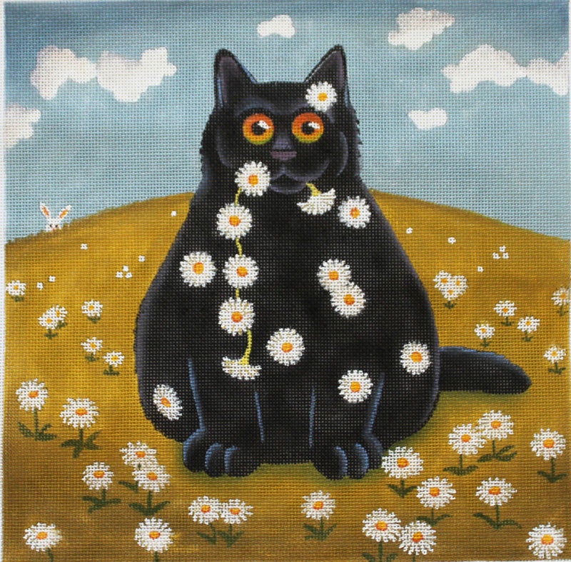Vicky Mount Needlepoint Daisy Chain