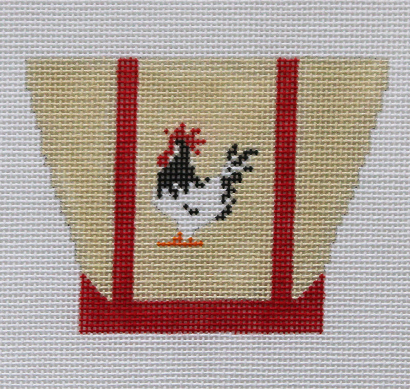 Tiny Totes Rooster Needlepoint Ornament