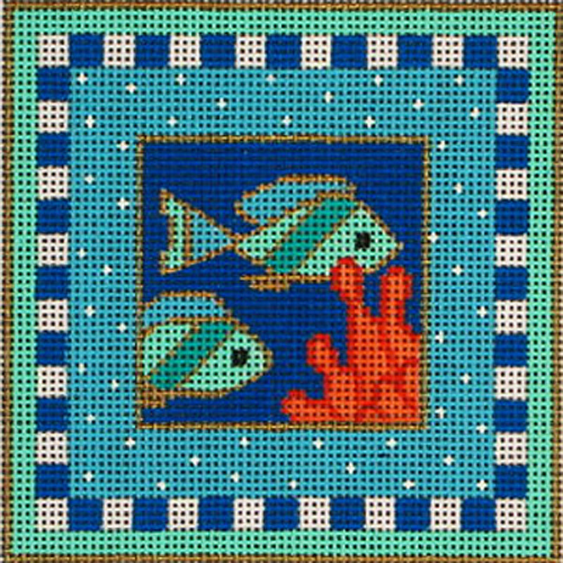 Fish square by Amanda Lawford