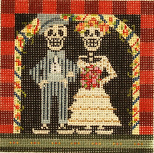 Wedding Skeletons by D DeRusha - Canvas Only