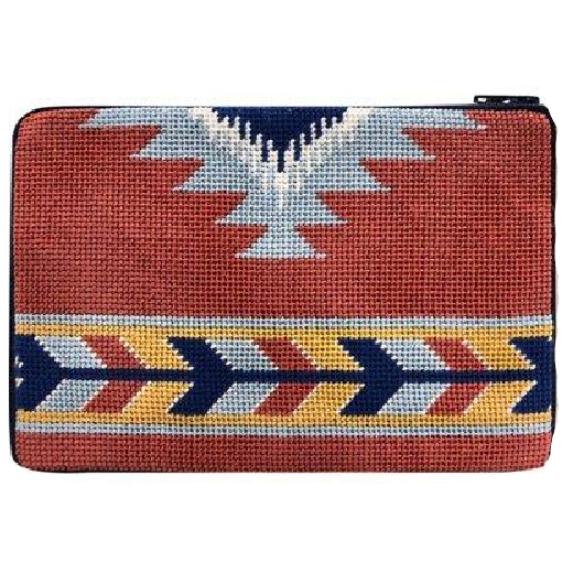 south western needlepoint purse by stitch and zip