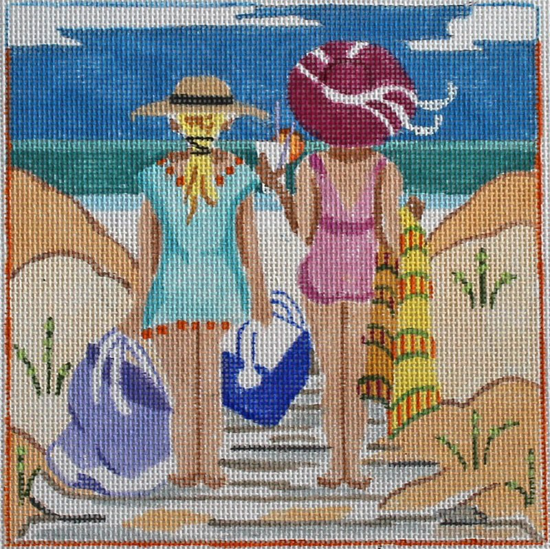 Where's Our Spot needlepoint canvas by Julie Mar