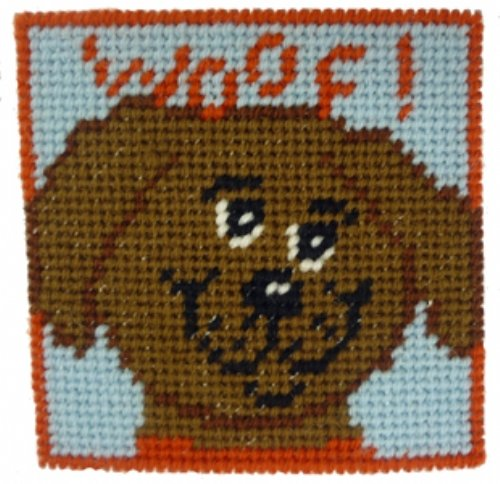 Kids Needlepoint Kit Woof!