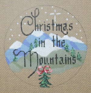 Christmas in the Mountains - Canvas Only