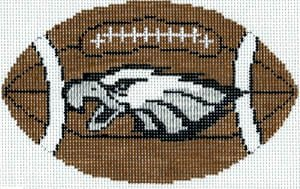 Football Ornament -- Philadelphia Eagles shown - Canvas Only