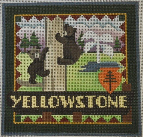 Yellowstone Needlepoint - Canvas Only