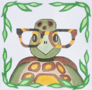 Turtle with glasses - Canvas Only