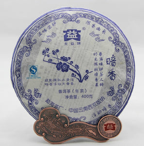 "2007 DaYi ""An Xiang"" (Secret Fragrance) 400g Puerh Sheng Cha Raw Tea - King Tea Mall"