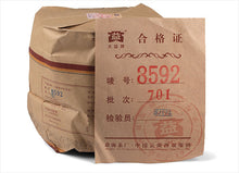 "Load image into Gallery viewer, 2007 DaYi ""8592"" Cake 357g Puerh Shou Cha Ripe Tea - King Tea Mall"