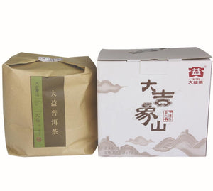 "2015 DaYi ""Da Ji Xiang Shan""  (Lucky Elephant Mountain) Cake 357g Puerh Sheng Cha Raw Tea - King Tea Mall"