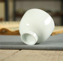Load image into Gallery viewer, Milk White Glaze Porcelain, Tea Cup, 4 Variations, 30cc-110cc