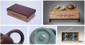 Portable Travelling Tea Sets with Bamboo Box, 2 Variations.