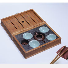 Load image into Gallery viewer, Portable Travelling Tea Sets with Bamboo Box, 2 Variations.