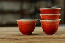 "Load image into Gallery viewer, ""Ji Hong"" Rain Red Glaze Porcelain, Tea Cup"