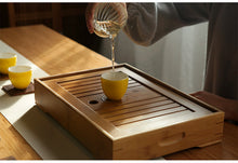 Load image into Gallery viewer, Bamboo Tea Tray with Water Tank 3 Variations