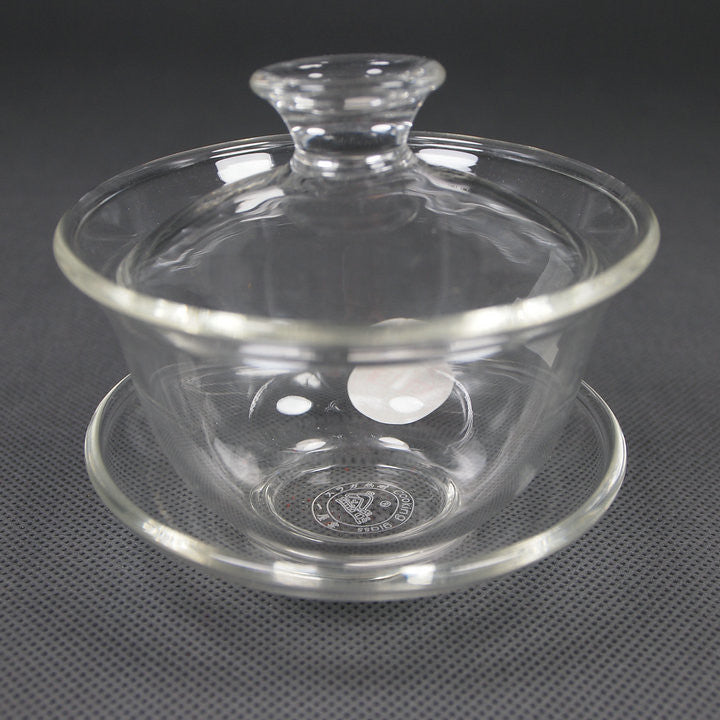 Glass Teaware Gaiwan with Capacity of 80ml, 120ml for China Gongfu Tea Teapot