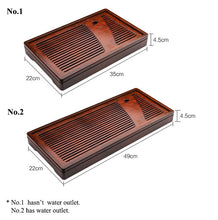 Load image into Gallery viewer, Bamboo Tea Tray with Water Tank 2 Variations