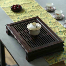 Load image into Gallery viewer, Bamboo Tea Tray with Plastic Water Tank  L37*W26*H7cm