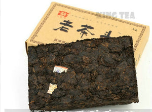 "2008 DaYi ""Lao Cha Tou"" (Old Tea Head) Brick 250g Puerh Shou Cha Ripe Tea - King Tea Mall"