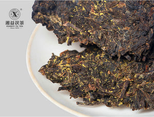 "2010 XiangYi FuCha ""Yi Pin"" (1st Grade) Brick 400g Dark Tea Hunan - King Tea Mall"