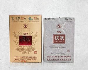 "2010 XiangYi FuCha ""Jun Xin"" Brick 380g Dark Tea Hunan - King Tea Mall"
