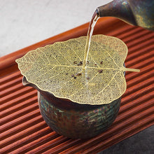 "Load image into Gallery viewer, Tea Strainer ""Leaf"" Stainless Steel Filter Two Color Variations - King Tea Mall"