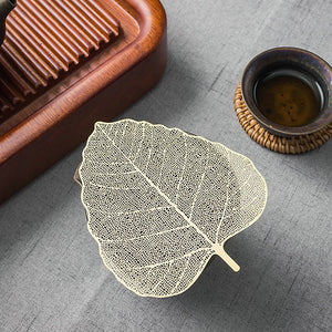 "Tea Strainer ""Leaf"" Stainless Steel Filter"