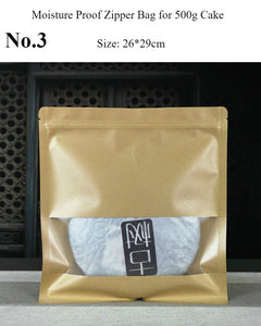 Moisture Proof Zipper Bag for Storing Puerh Tea 200g / 357g / 500g Cake
